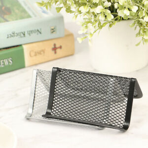 Metal Mesh Portable Business Card Holder Display Stand Home Desk Storage Stan ss