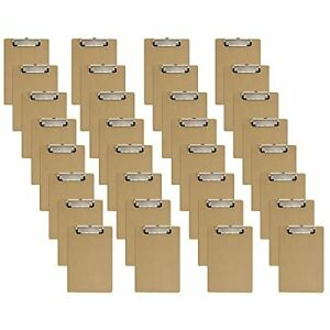 Mini Clipboards 6 X 9 Inches 32 Pack Small Wood Hardboard 6x9 Inch 32 Pack