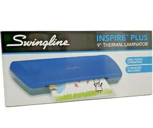 Swingline One Touch Inspire Plus Thermal Laminator W 5 Free Pouches blue Genuine