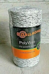 Gallagher Polywire 660 1 8 Mile Portable Electric Fence Animal Control Farm New