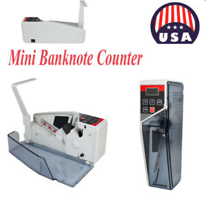 Us Mini Banknote Counter Cash Currency Counting Machine Ac Or Battery Powered