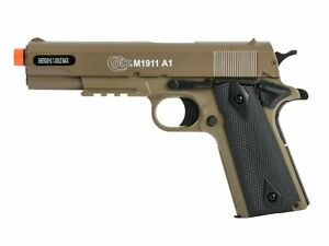 Colt M1911 A1 Spring Powered Airsoft with Rail 6mm Airsoft BB $44.99