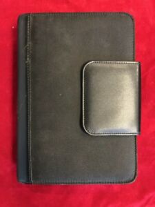 Franklin Covey 365 Black Leather Organizer Binder Planner 10 5 By 7 5 Inch Vguc