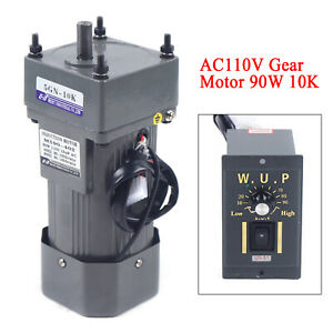 Single phase 90w Gear Motor Electric Motor Variable Speed Controller 1 10 10k