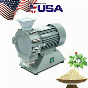 110v Electric Micro Plant Grinder Soil Crusher Pulverizer Continuous 30 120mesh