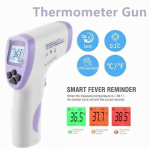 New Medical Non contact Body Forehead Ir Infrared Digital Thermometer Temper Gun