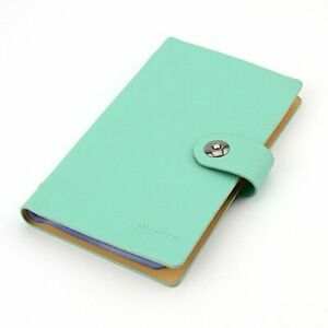 Business Pu Leather Cards Organizer Book 240 Cell blue 240 Cards blue