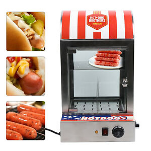 1500wstainless Steel glass Commercial Vertical Electric Hot Dog Steaming Machine