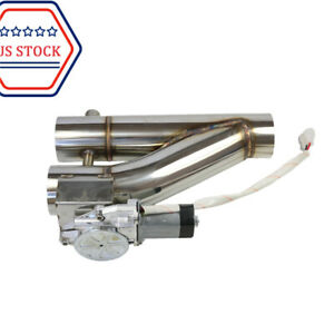 63mm 2 5 Inch Electric With Remote Y Pipe Exhaust Control E Cut Out Dual Valve