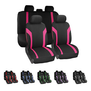Full Set Auto Seat Covers Universal Fits Cars Trucks And Suvs Compatible