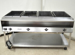 Vollrath Serve Well 4 well Hot Food Warmer Table Plate shelf Stainless 4 temp