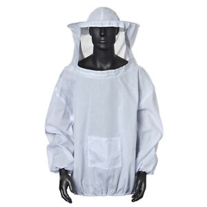 Beekeeping Jacket Veil Bee Keeping Suit Hat Pull Over Smock Protective Smoc