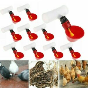 10xpoultry Water Drinking Cups Chicken Bird Automatic Drinker Feeder Nipple