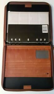 Monarch folio Size Brown Leather 1 5 Rings Planner binder Franklin Day timer