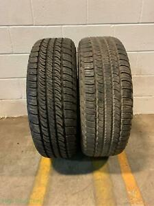2x P245 65r17 Goodyear Fortera Hl 10 32 Used Tires