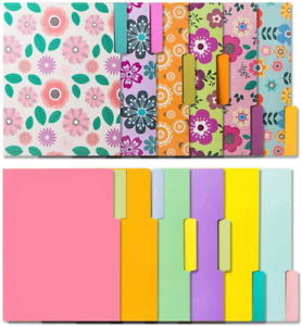 12 Cute File Folders 9 5 X 11 5 Inches Purple Pink Baby Blue yellow
