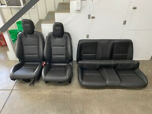 2010 2015 Chevrolet Camaro Ss Black Leather Seats Front Rear Coupe Oem