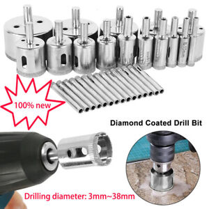 Wet Diamond Hole Saw Core Drill Bit Tile Glass Marble Hole Saw Cutter 3mm 38mm