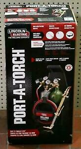 Lincoln Electric Kh990 Port a torch Kit With Oxygen Acetylene Tanks