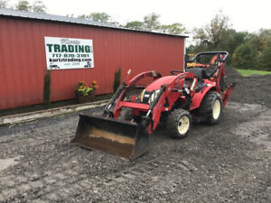 2018 Tym T273 4x4 Hydro 27hp Compact Tractor Loader Backhoe W Only 100hrs