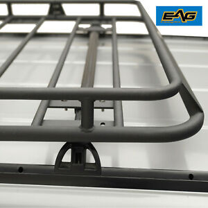 Eag Fits 84 01 Jeep Cherokee Xj Roof Rack Cargo Carrier With Wind Fairing