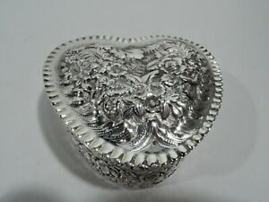 Tiffany Box 8199 Antique Valentine S Day Heart Gift American Sterling Silver