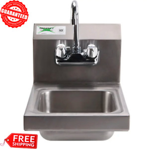 Stainless Steel 12 X 16 Wall Mounted Nsf Commercial Hand Wash Sink Restaurant