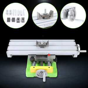 Mini Milling Drilling Machine Xy axis Work Table Cross Slide Bench Drill Vise