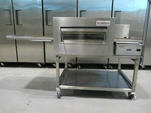 2016 Lincoln 1132 Electric Conveyor Pizza Sandwich Fry Convection Oven On Stand