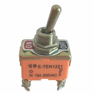 Heavy Duty 4 Pin 2 Position On off Dpst Rocker Toggle Switch Ac 250v 15a