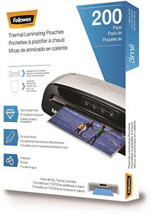 Fellowes Thermal Laminating Pouches Letter Size Sheets 9 X 11 5 inches 3 Mil