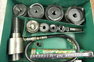 Greenlee 7310sb Hydraulic Knockout Punch Set W Metal Case Complete Tested