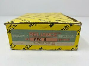 Reliance Rfs5 Rfs 5 Rectifier Fuse 600 Volts Box Of 10 New Free Shipping
