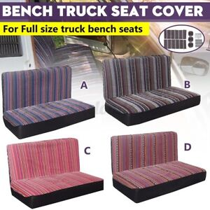 5pcs Baja Inca Saddle Mexican Blanket Bench Truck Seat Cover Cushion Protector