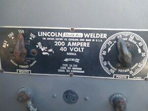 Lincoln Sa 200 pipeliner Dc Shield Arc Welder Runs And Welds Smooth 1959