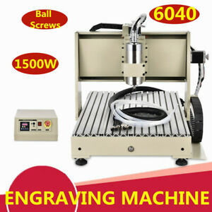 1 5kw 3axis Cnc 6040 Router Engraver 3d Vfd Wood Working Milling Drill Machine