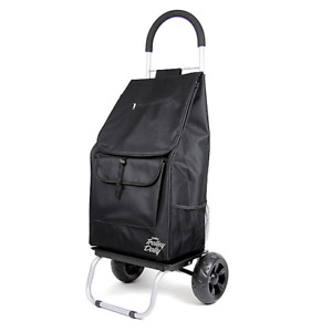 Folding Trolley Dolly Cart In Black Push Collapsible Luggage Portable Moving New