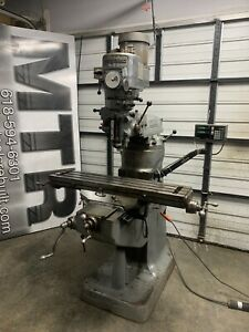 9x42 1 5 Hp Variable Speed Bridgeport Mill Fully Functional Sony Dro