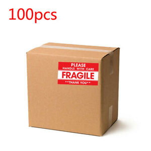 100pcs Fragile Handle With Care Do Not Drop Label Stickers Move 1 9 X 3 5