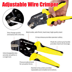 Non insulate Cable Connectors Terminal Ratchet Crimping Tool Wire Crimper Pliers