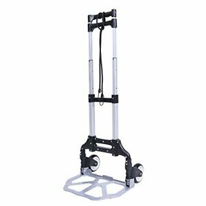 Folding Hand Truck Dolly Foldable Hand Cart Trolley With 2 Free Elastic