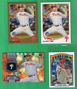 2013 Topps Cliff Lee 4 Cards Gold #US188 Base #US188 Mini #TM 33 Chasing #CH 81 $2.00
