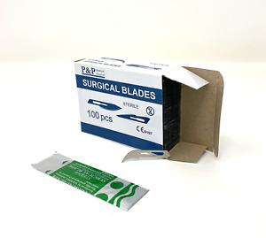 Disposable Surgical Scalpel Blades Size 12 Sterile Carbon Steel Box Of 100