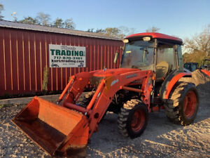 2009 Kubota L3240 4x4 Hydro 32hp Compact Tractor W Cab Loader 1600hrs