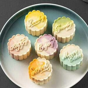 Moon Cake Mould 50g English Hand Pressure Mooncake Molds for Mid Autumn DIY Tool $7.49