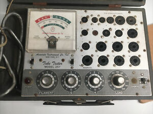 Vintage Accurate Instruments Co 257 Tube Tester As Is For Parts With Manual