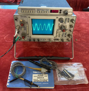 Tektronix 475a Oscilloscope With Dm44 Meter Includes User Manual Probes