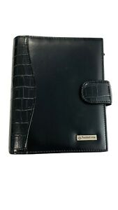 Franklin Covey Compact Black Leather Planner Binder