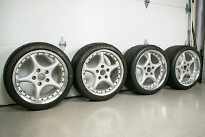 Ronal Roock 18 Wheels For Porsche 911 993 996 9jx18 11jx18 Set Of Four Used