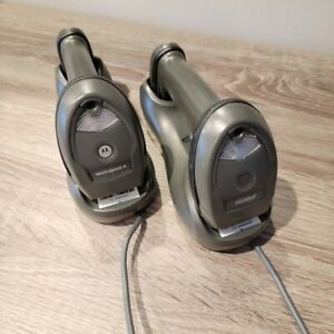 Lot Of 2 Motorola Symbol Li4278 Barcode Scanners With Cradle And Cable